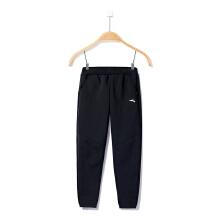 安踏童装运动裤男童秋冬季新款中大儿童学生加厚保暖针织运动长裤