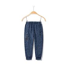 安踏童装男童运动裤 小童休闲裤新款长裤防风保暖针织长裤 3-6岁