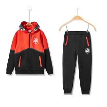 安踏儿童运动套装 新款童装男童套装运动服连帽卫衣运动裤