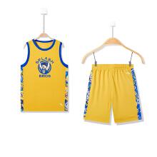 安踏童装 秋冬中大童男童篮球比赛套装 透气篮球服无袖运动套