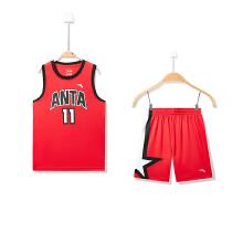 安踏男童篮球比赛套吸湿篮球运动套装两件套
