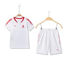 安踏童装男童足球服新款足球柔软舒适运动套装