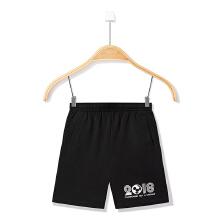 安踏童装中大童儿童男童针织五分裤短裤旗舰店正品