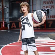 安踏男童要�疯篮球比赛套篮球服套装男童夏装新款△小学生背心