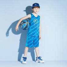 安踏儿童2019新款男中大童KT篮球运动比赛套装