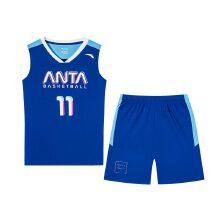 安踏儿童2019新款夏季中大童篮球套装篮球服