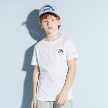安踏儿童2019新款夏季中大童运动短袖针织衫