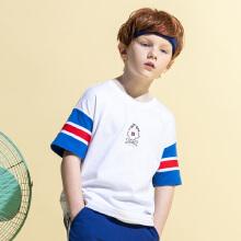 安踏儿童2019新款夏季中大童棉短T短袖