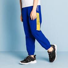 安踏儿童2019新款夏季中大童薄款梭织运动长裤