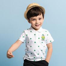 安踏儿童2019新款夏季小童大眼蛙短暂系列短袖POLO衫
