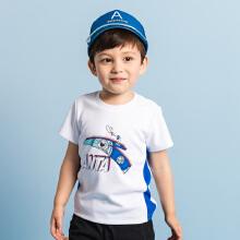 安踏儿童2019新款夏季小童图案透气舒适短T短袖