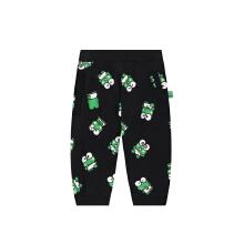 安踏儿童2019新款夏季小童大眼蛙系列针织七分裤