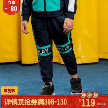 2019新款安踏小童梭织运动长裤