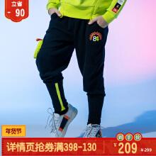 时装周男中大童针织运动长裤