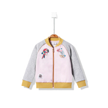 安踏女童外套新款童装女小童洋气外套舒适儿童休闲运动服外套