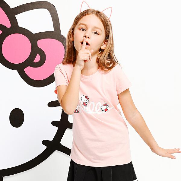 安踏儿童 女童短袖针织衫-36828143