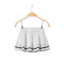 安踏童装 秋冬新款女童学生女孩荷叶边短裙半身裙黑白运动裙