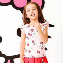 女童短袖针织衫