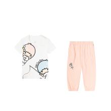 安踏儿童2019新款夏季婴童女长裤两件套