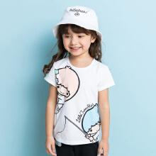 安踏儿童2019新款夏季女童短袖针织衫