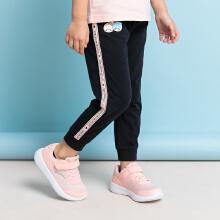 安踏儿童2019新款夏季女童薄款针织运动长裤