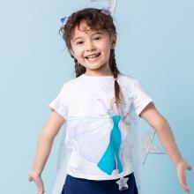 安踏儿童2019新款夏∏季公主披风短袖女