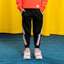 安踏儿童2019新款女小童针织运动长裤