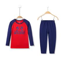 童装男童运动套装中大童可爱针织套装休闲运动舒适