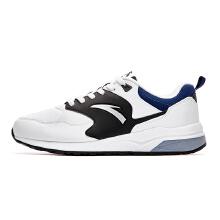 男鞋新款男子时尚休闲鞋复古休闲鞋学生黑白革面运动鞋潮鞋