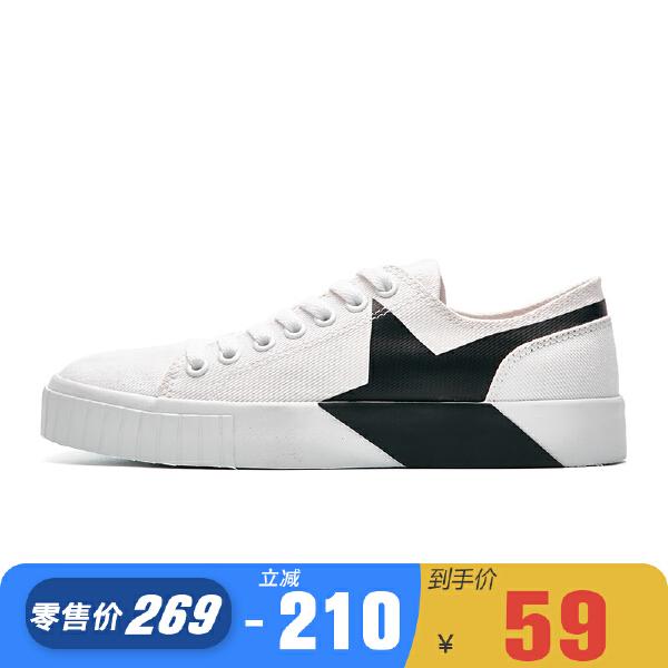 安踏 生活系列 女子tatoo概念帆布鞋-92748931