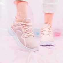 安踏女子2019新鞋夏季新款休闲鞋小粉鞋网面透气跑鞋