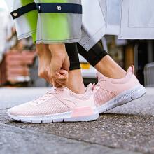 安踏女子2019夏季新款慢跑易弯折休闲樱花跑鞋