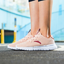 安踏女子2019新款夏�z季网面透气运动跑鞋