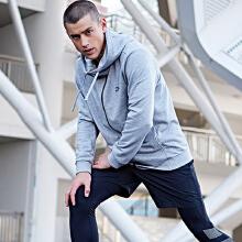 男装新品运动上衣针织连帽外套卫衣男外套运动服休闲开衫