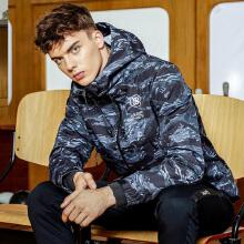 运动外套男秋冬新款时尚运动连帽拉链款开衫外套茄克