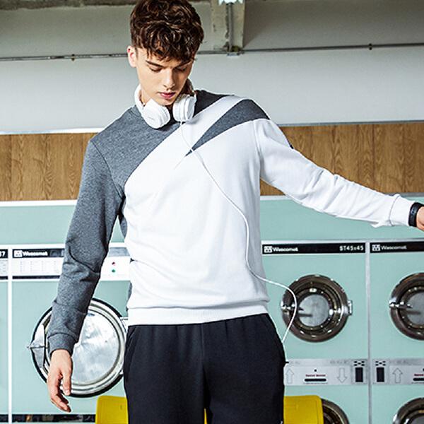 安踏 生活系列 男子时尚美观套头卫衣-95738709