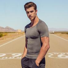 紧身衣男装新款男子健身服T恤学生训练运动速干短袖上衣