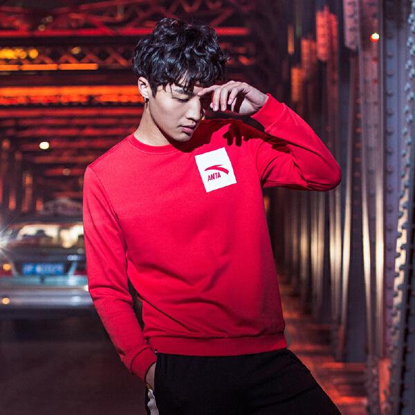 安踏 综训系列 男子套头卫衣-95747742
