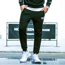 运动裤男冬季新款修身运动收口针织加绒小脚运动长裤