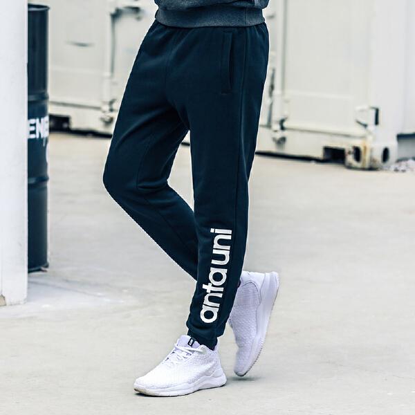 安踏 生活系列 男子针织运动长裤-95748770