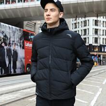 男装羽绒服秋冬新款休闲连帽黑色保暖加长款羽绒服外套