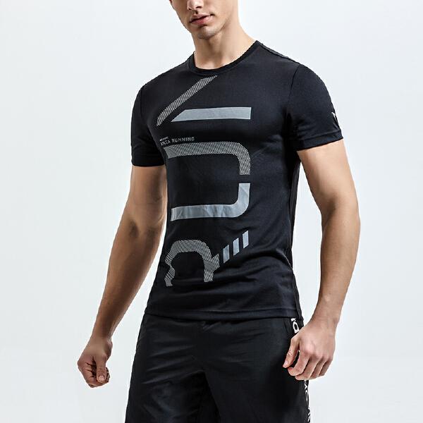 安踏 跑步系列 男子短袖针织衫-95825119