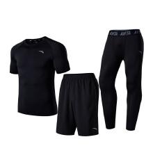 运动健身套装男2019春夏新款舒适运动专业健身三件套