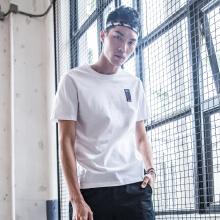 短袖T恤男装舒适新款学生白色舒适休闲运动T恤短袖潮