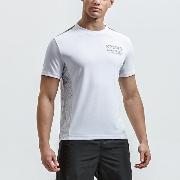 安踏 生活系列 男子短袖针织衫-95829147