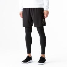 运动裤男2019新款修身专业紧身针织运动裤假两件