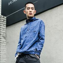 男装2019春季新款潮流连帽套头梭织外套运动上衣风衣夹克