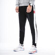 加绒长裤男2019春季新款保暖运动长裤条纹舒适运动休闲长裤