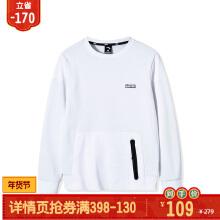 卫衣男2019春季新款圆领套头加绒保暖宽松长袖运动卫衣