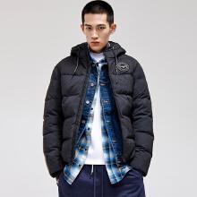 男装羽绒服冬季新款短款加厚保暖连帽迷彩羽绒服外套